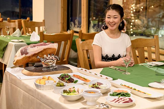 ホテルグランフェニックスのディナー