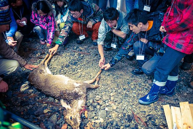 奥志賀高原でのジビエ体験